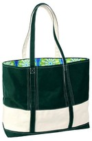 Hadaki Big Easy Striped Cotton Canvas and Nylon Tote Handbag