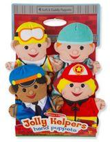 Melissa & Doug Jolly Helpers Hand Puppets (Set of 4)