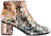 Pollini sequins embellished ankle length boots