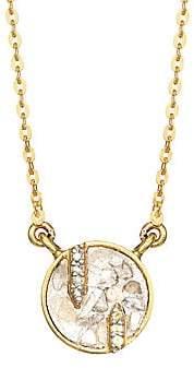 Shana Gulati Women's Battice 18K Yellow Gold Vermeil, Diamond & Yellow Sapphire Beaded Chain Pendant Necklace