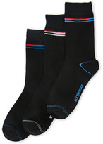 Ben Sherman 3-Pack Owen Black Single Stripe Crew Socks
