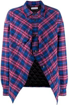 Balenciaga Swing Canadian plaid shirt