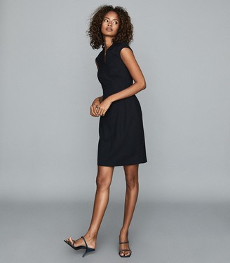 Reiss HAYES TAILORED DRESS Navy