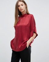 Selected Short Sleeve Loose Top