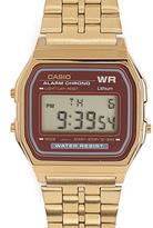 Casio A159WGEA-5 Gold & Burgundy Digital Watch