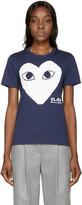 Comme des Garcons Navy Heart T-Shirt