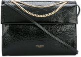 Nina Ricci chain detail shoulder bag - women - Patent Leather/Suede - One Size