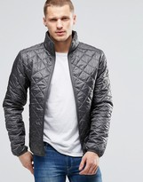 Blend of America Quilted Jacket Nylon Diamond Stitch in Gray