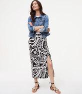 LOFT Paisley Seamed Maxi Skirt
