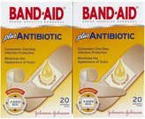 Safety First Band-Aid Antibiotic Waterproof Adhesive Bandages, Assorted Sizes, 2 pk