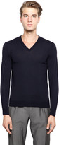 Drumohr Extra Fine Merino Wool V Neck Sweater