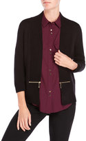 Ivanka Trump Shawl Collar Open Cardigan