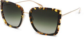 Barton Perreira Escapade Oversized Square Acetate/Metal Sunglasses
