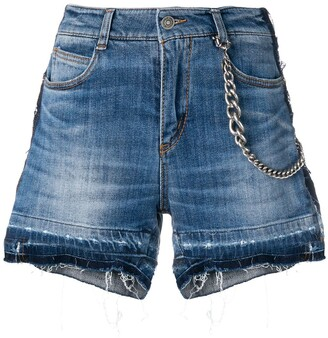 Ermanno Scervino Distressed Denim Shorts