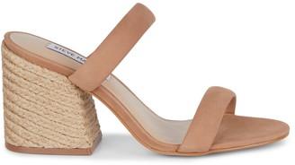 Steve Madden Marcella Leather Woven Block Heel Sandals