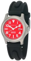 Momentum Women's 1M-SP01R1 Atlas Red Dial Black SLK Rubber Watch