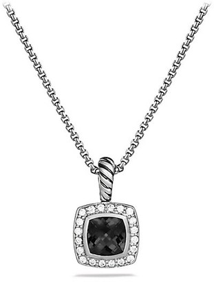 David Yurman Albion Petite Pendant Necklace with Black Onyx & Diamonds