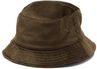 A.P.C. Alex Cotton-corduroy Bucket Hat - Khaki