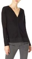 Sanctuary Women's 'Hanna' Split Neck Knit Top