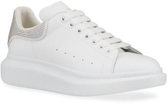 Alexander McQueen Men's Studded Leather Platform Sneakers