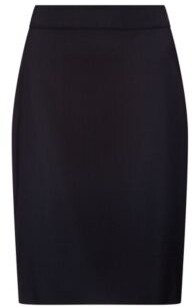 HUGO Slim-fit skirt in lightly worsted stretch wool