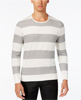 INC International Concepts Men's Snakeskin-Pattern Striped Sweater, Only at Macy's