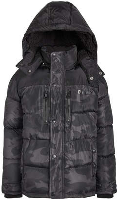 DKNY Toddler Boys Faux-Fur-Trim Puffer Jacket