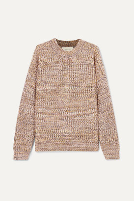 The Great The Marled Oversized Melange Chunky-knit Sweater - Beige