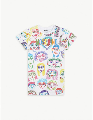 Moschino Doodle face cotton dress 4-14 years