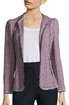 Rebecca Taylor Tweed Open-Front Jacket
