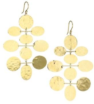 Ippolita Classico 18K Yellow Gold Crinkle Mobile Drop Earrings