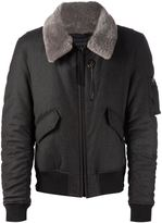 Lanvin fur collar bomber jacket