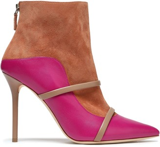 Malone Souliers Madison Leather And Suede Ankle Boots