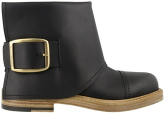 Alexander McQueen Buckle Detail Ankle Boots