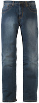 Yours Clothing TALL Dark Blue Distressed Look Jeans