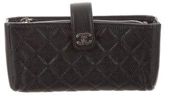 Chanel Quilted Caviar O-Phone Holder