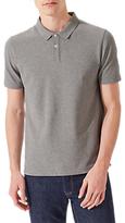 Jigsaw Dalton Short Sleeve Pique Polo Shirt, Grey Melange