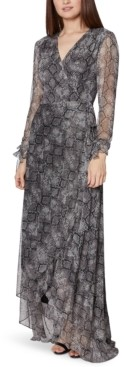 Betsey Johnson Petite Snake-Embossed Maxi Dress