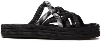 Rag & Bone Kris Checked Cord Platform Slides