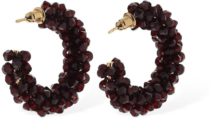 Thumbnail for your product : Simone Rocha Small Beaded Hoop Earrings