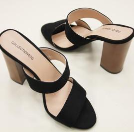 Collection & Co - Black Louri Heeled Mules - 35 / Black - Black