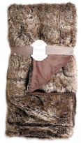 Artisan Wolf Fur Throw Blanket in Chocolate