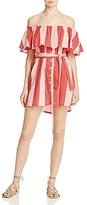 Faithfull The Brand Amalfi Off-the-Shoulder Stripe Dress