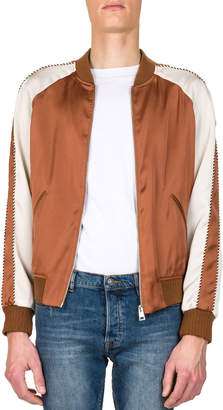 The Kooples Men's Satin Effect Baseball Jacket