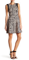 Rachel Roy Animal Mix Fit and Flare Dress
