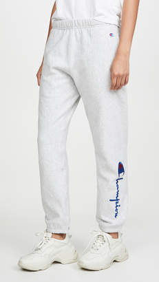 Champion Big Script Elastic Cuff Pants