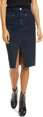 Rag & Bone Super High-Waist Denim Pencil Skirt