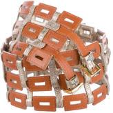 Tory Burch Leather Link Belt