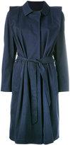 Lutz Huelle - belted coat - women - Cotton - S