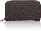 Bottega Veneta Women's Zip-Around Continental Wallet-DARK BROWN